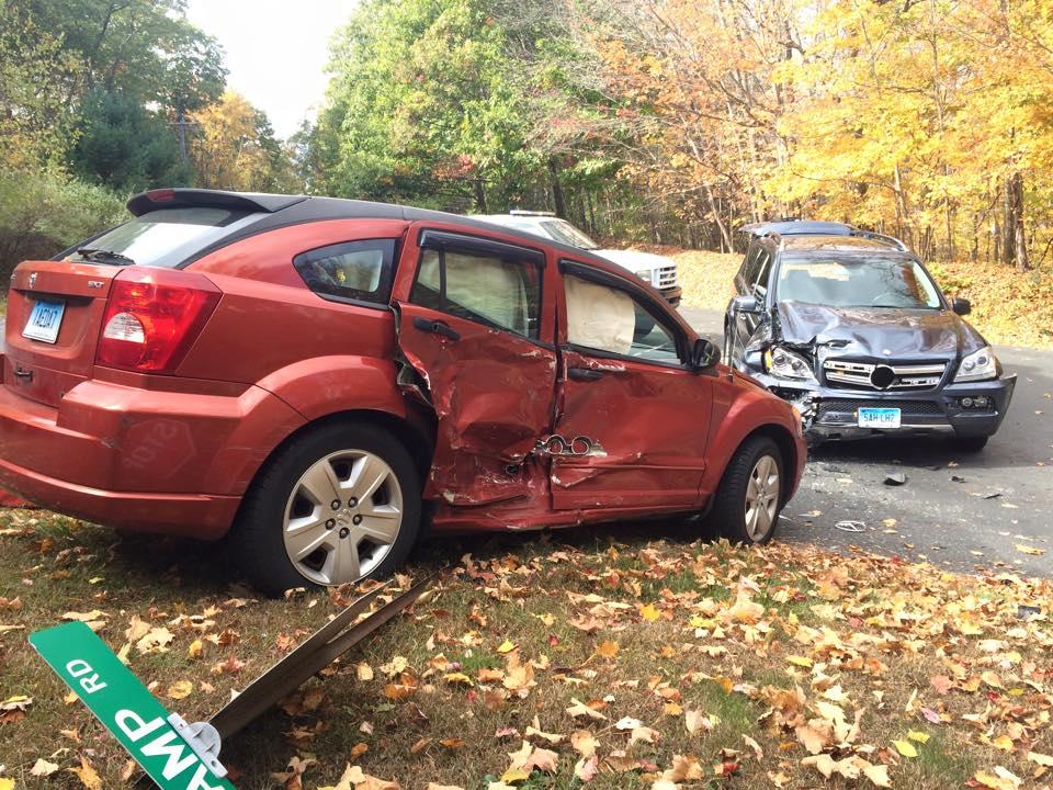 Two car MVA on Botsford Hill